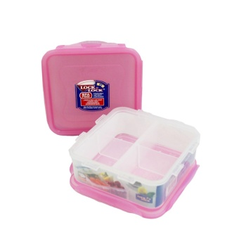 Lock & Lock 2PC. Lunch Set - Square (Pink)