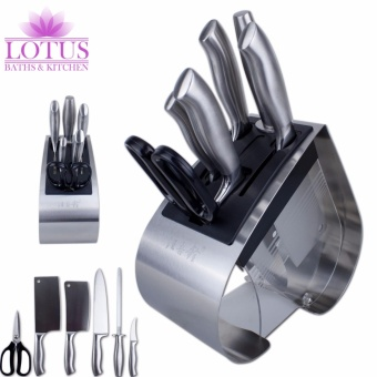 Lotus Kitchen JGL-T7 High Quality Antibacterial 6-Piece Knife Set(Stainless Steel)