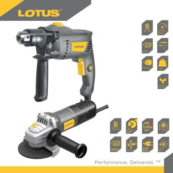 "Lotus LID13RE 650W 13mm Impact Drill (Black) with Lotus AngleGrinder 4"" 600W (TOGGLE) LAG115T Promo Pack Price Philippines"
