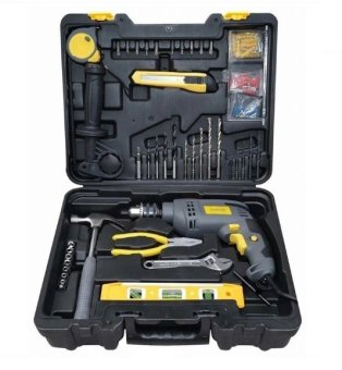 Lotus LID13REPK 13mm Impact Drill with 45pcs DIY Tool Kit (Black) Price Philippines