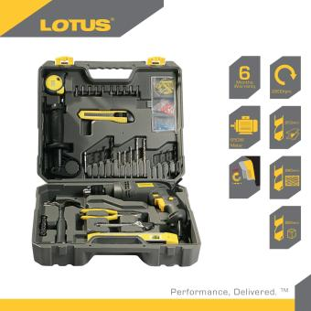 Lotus LID13REPK 13mm Impact Drill with 45pcs DIY Tool Kit (Black)