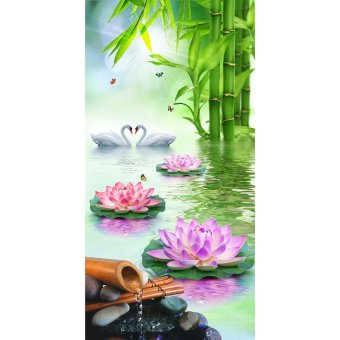 Lotus Swan 5D Diamond DIY Painting Craft Home Decor - intl Price Philippines