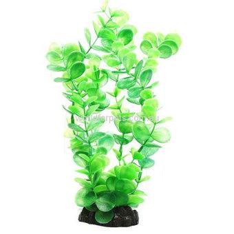 louiwill Plastic Decoration Simulated Sea Plants Flora for Aquarium Fish Tank (Green) (Intl)
