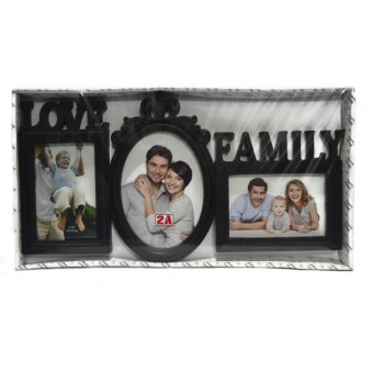 Love Family Collage Picture Frame (Black)