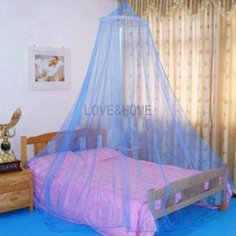 LOVE&HOME Mosquito Net Bed Canopy King/Queen Size (Blue)