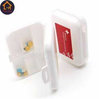 LOVE&HOME Plastic Portable 8 Slots Pills Box Medicine Tablets Storage (White) - 5