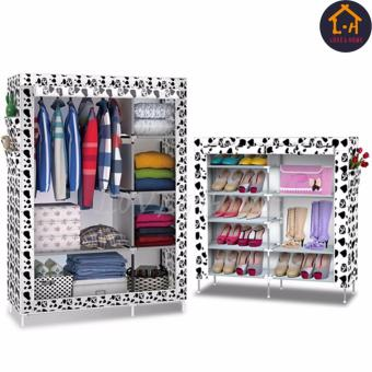 LOVE&HOME Storage Wardrobe and Clothes Organizer (White Dog) With High Quality Double Capacity 6 Layer Shoe Rack Shoe Cabinet (White Dog)