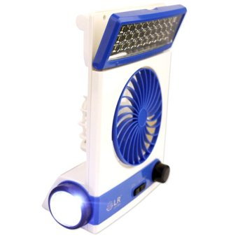 LR 5591 Solar Light Fan (White/Blue)