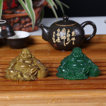 Lucky resin color changing Buddha tea joke Buddha