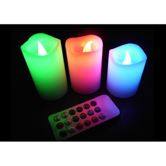 Luma Color Changing Candles with Remote Control - 2