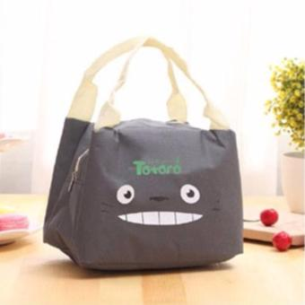 Lunch Box Storage Cooler Bag with Cute Design (TOTORO GREY)