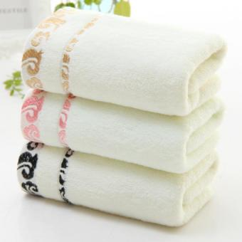 LZ Set Of 3 Magic Cotton Bath Towel Adult Hotel Children 100% Cotton - intl