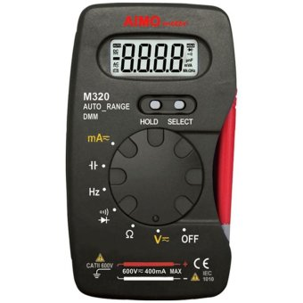 M320 Handheld Digital Multimeter DMM Auto Range 4000 Counts LCDDisplay Ammeter Voltmeter Ohmmeter with Capacitance Frequency DiodeContinuity Test - intl
