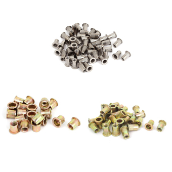 M6x15mm Metric Flat Head Blind Rivet Nut Rivnut Insert Nutsert 30pcs