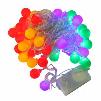 Mabuhay Star 50 LED Rainbow Christmas Balls (Multicolor)