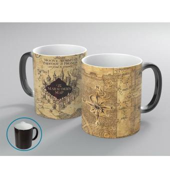 Magic Heat Sensitive Color Changing Coffee Cup Unisex Harry Potter Map Mug 350ml - intl