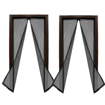 Magic Mesh Instant Screen Door (Black) Set Of 2