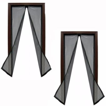 Magic Mesh Instant Screen Door (Black)Set of 2