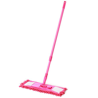 Magic Microfiber Noodle Dust Mop Telescoping Pole Floor Easy Clean Rotating Head