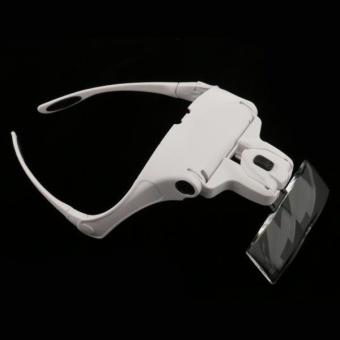 MagiDeal 5 Lens Headband LED Lamp Head Light Jeweler Magnifier Magnifying Glass Loupe - intl - 3