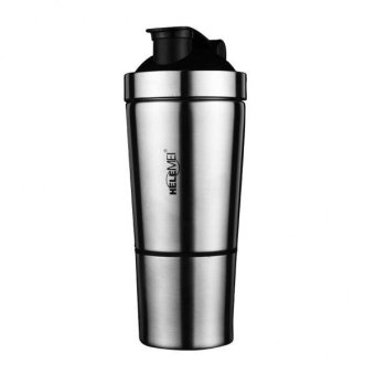 MagiDeal Stainless Steel Protein Mix Shaker Cup Vacuum Insulated Bottle