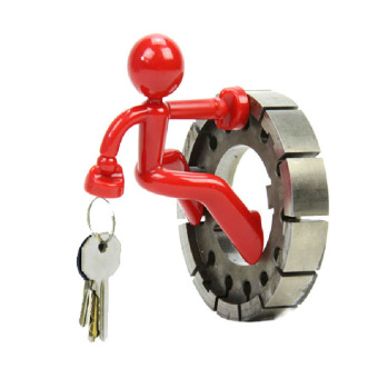 Magnetic Key Hook (Red/Gray)