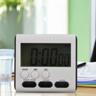 Magnetic Large LCD Digital Kitchen Timer Alarm Count Up Down Clock24 Hours - intl - 3