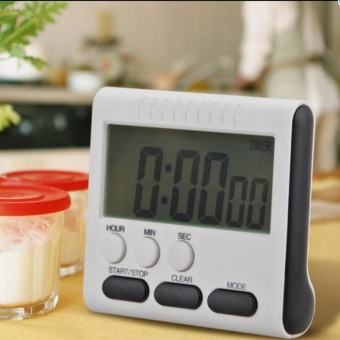 Magnetic Large LCD Digital Kitchen Timer Alarm Count Up Down Clock24 Hours - intl - 2