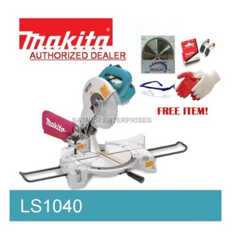 Makita Miter Saw LS1040 W/ 120 teeth Bosun carbide Blade, Carbon Brush, Goggles and Gloves