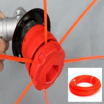 Makiyo 10mx2.4mm Nylon Strimmer Line Spool Cord Wire String Grass Trimmer Part (Orange Red) - intl - 2