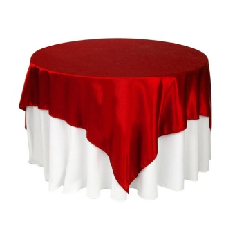 Makiyo 145cm*145cm Elegance Satin Tablecloth Table Cover Party Wedding Restaurant Banquet Decor - intl Price Philippines