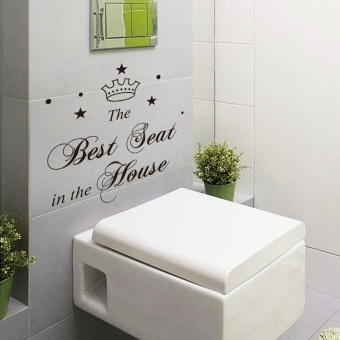 "Makiyo ""The Best Seat In The House"" Waterproof Toilet Bathroom Wall Decal Sticker Home Decor - intl Price Philippines"
