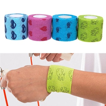 Makiyo 5M Pet Horse Dog Cat Animal Wound Non Woven Cohesive Bandage Self Adherent Wrap Tape - intl