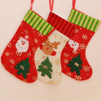 Makiyo Cute Christmas Party Decorations Candy Socks Christmas Gifts Bag Christmas Supplies (M) - intl Price Philippines