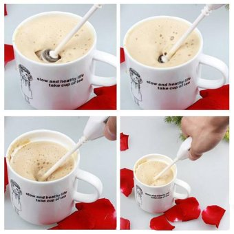 Makiyo Kitchen Coffee Latte Chocolate Electric Milk Frother Hand held Foam Whisk - intl Price Philippines