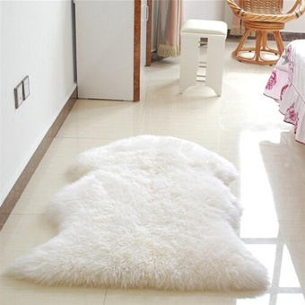 Makiyo Luxury Cute Shaggy Fluffy Anti-skid Carpets Rugs Floor Mat Cover 60x90cm - intl Price Philippines