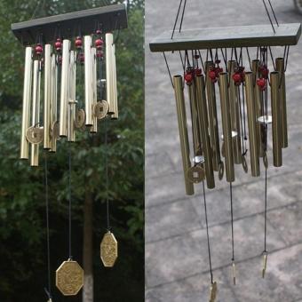 Makiyo Solid Wood Antique Bronze Garden Outdoor Hanging Wind Chime (02) - intl - 3