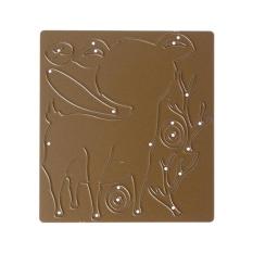 Male Deer Joint DIY Metal Stencil Scrapbook Craft Cutting Die Gold- intl