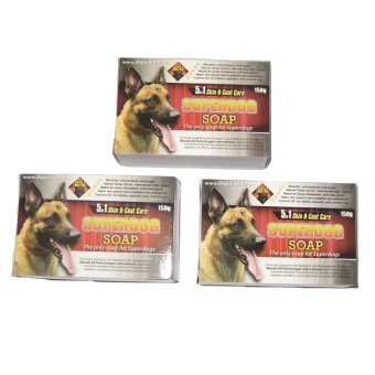 Manalo K9 Super Dog 5-in-1 Skin and Coat Care Soap 150g Set of 3(Multicolor) Price Philippines