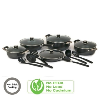 Manhattan Homemaker Non Stick Cookware 16-piece Set (Black)