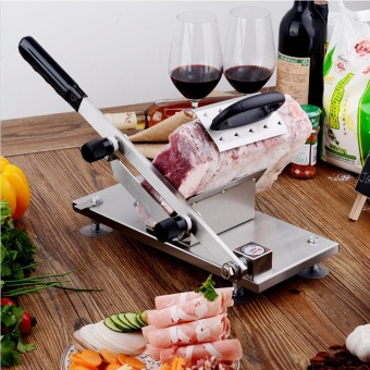 Manual Frozen Meat Slicer Stainless Steel Beef Mutton SlicingMachine Roll Meat Vegetable Food Slicer for Home Kitchen