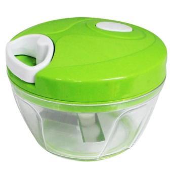 Manual Speedy Chopper Fruit Vegetable Crusher Onion CutterShredder(green) - 3