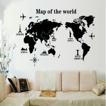 Map of the World Wall Sticker