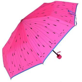 Medc-three folds Attractive umbrella printed (Neon Pink)