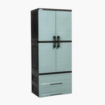 Megabox 2-drawer Wardrobe Cabinet (Light Blue)