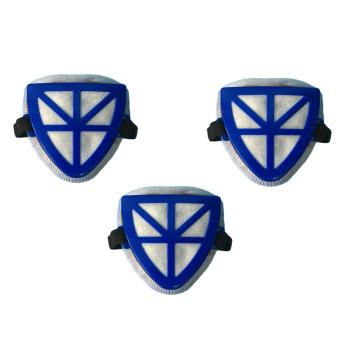 Meisons triangle filter dust mask heavy duty lift type (3pcs)