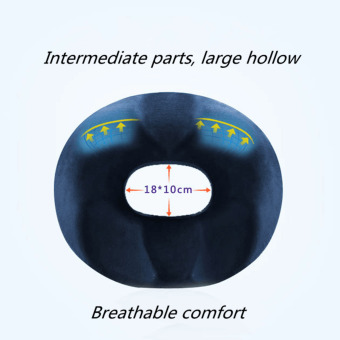 Memory Foam Hemorrhoid Treatment Ring Donut Travel Support Seat Cushion Pressure Navy Blue Men - intl - 3