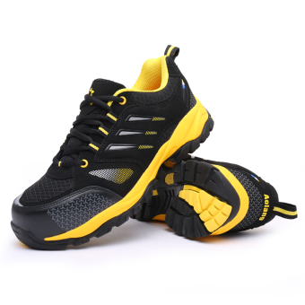 Men Four Seasons breathable steel head anti-smashing anti-piercing work shoes safety shoes