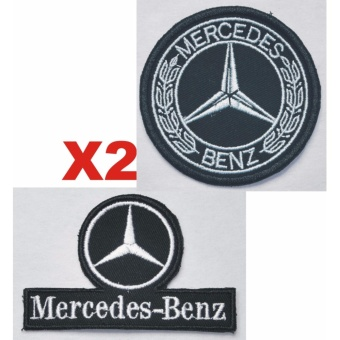 Mercedes Benz Classic Laurel Embroidered Cloth Patch Set (Get 2)