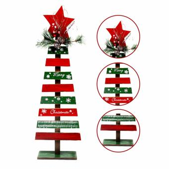 Merry & Bright Christmas Wooden Tree Table Top